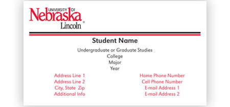 Graduate Student Business Card Choice Image Business Card Template